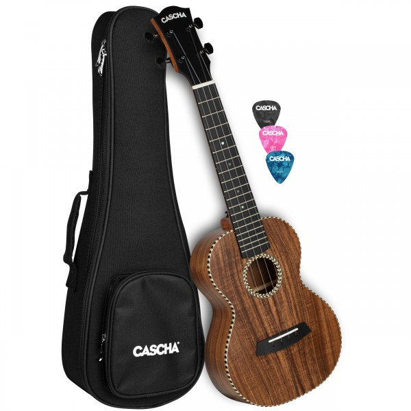 Cascha HH 2310 All Solid Acacia Concert Ukulele