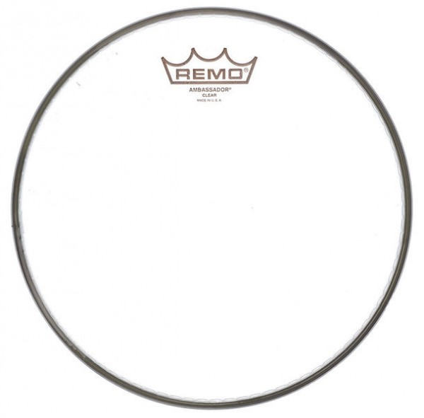 "Remo 16"" Ambassador Tom Tom Fell transparent"