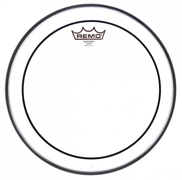 "Remo 20"" Pinstripe Bass Drum Fell transparent"