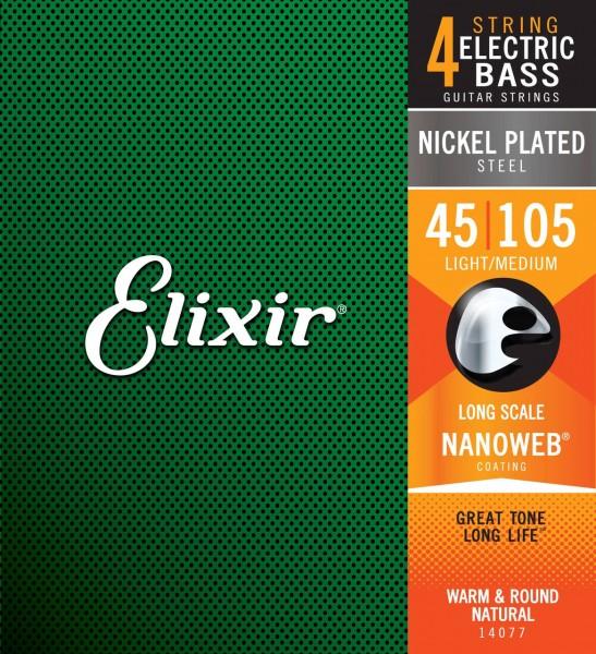 Elixir 14077 Nickel Plated Bass 45-105