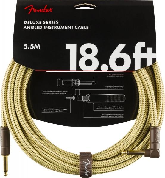 Fender Deluxe Tweed Instrument Cable 5,5m gewinkelt