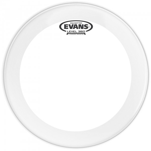 "Evans EQ4 Clear 22"" Bass Drum Fell transparent"