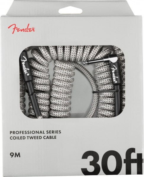 Fender Professional Series Coil Cable Tweed White 9m
