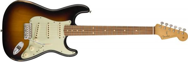 Fender Roadworn 60s Stratocaster PF 3 Tone Sunburst