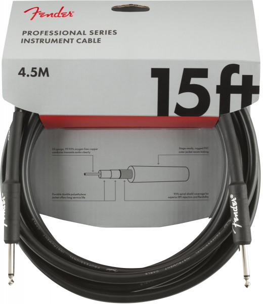 Fender Professional Instrument Cable 4,5m gerade
