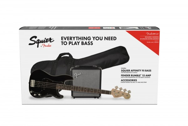 Squier Affinity PJ Bass Pack Gloss Black